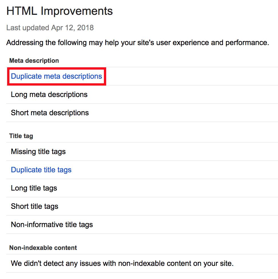 اطلاعات متای تکراری روی سایت